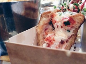 the interior of the lobster roll